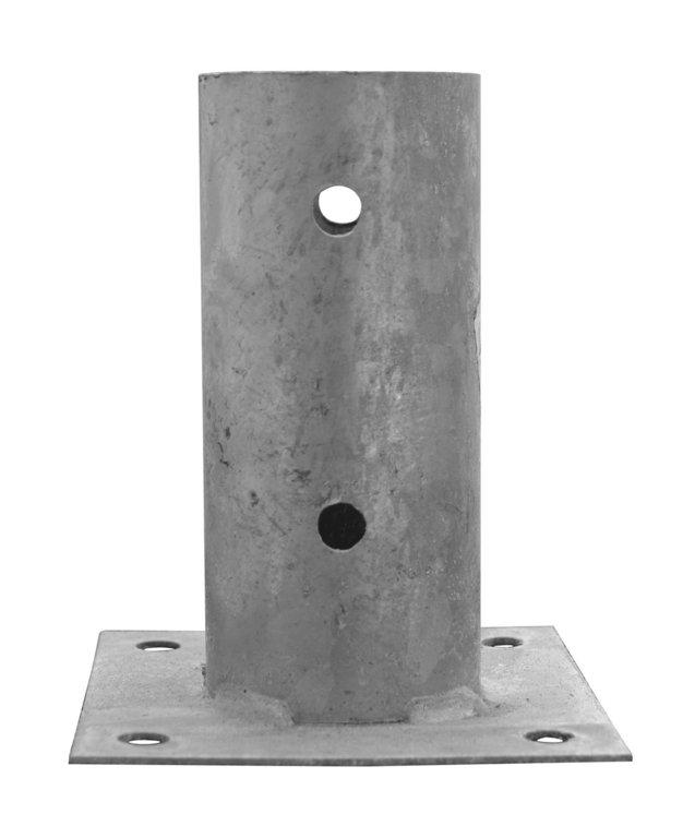 Staffa supporto tondo zincato da pavimento for Bricoman erba sintetica