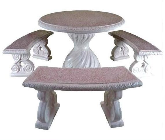 Tavolo Sedie Giardino Cemento.Set Tavolo 3 Panche In Cemento Arredogiardini It