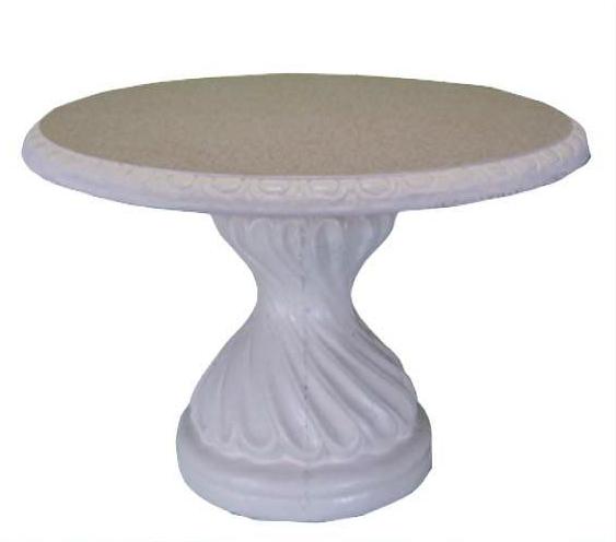 Tavoli Da Giardino In Cemento.Tavolo Tondo 6 Posti In Cemento O Cm 130x73h Arredogiardini It