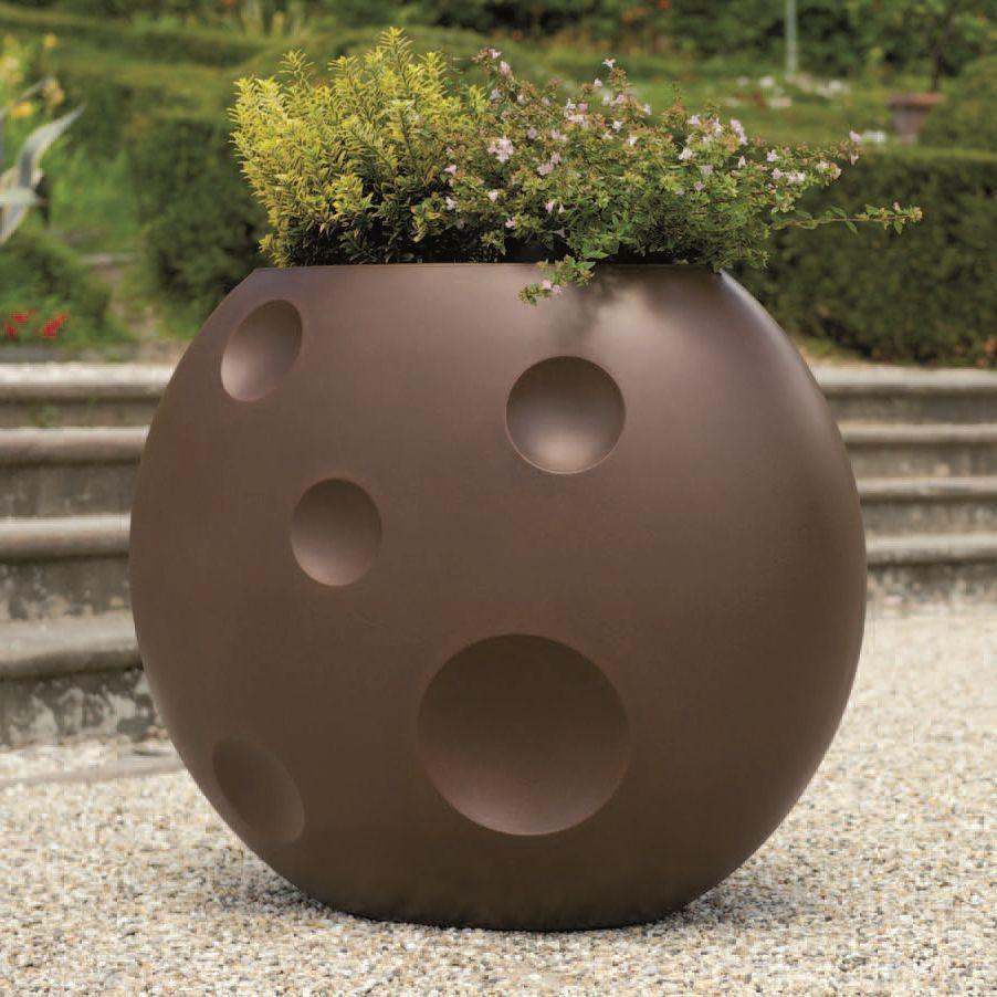 Vasi Interno Grandi Dimensioni vaso ovale scudo cm 90x50x75h plastica resina