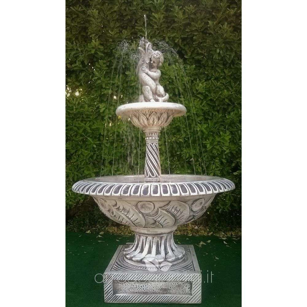 Vasche In Pietra Per Fontane fontana agropoli in cemento - Ø cm 110x163h - arredogiardini.it