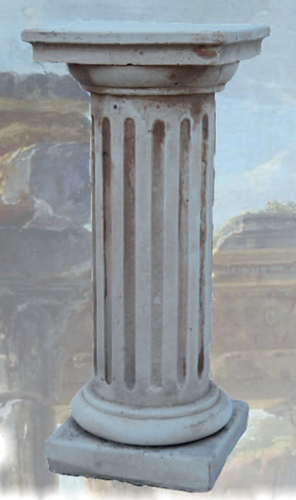 Colonna Atene in cemento cm 65 H