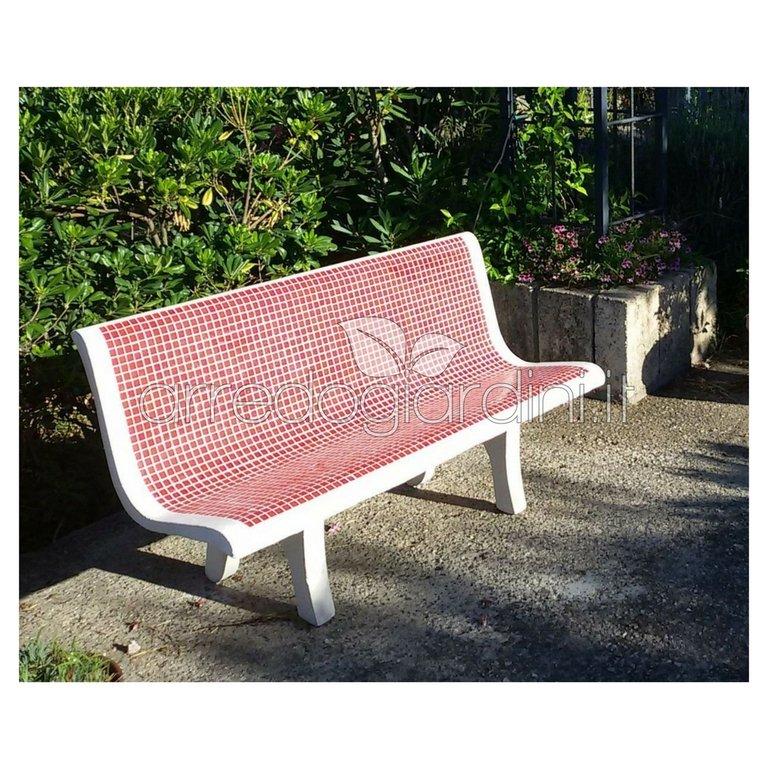 Panchina Positano Con Mosaico Cm140x62x77h Arredogiardini It