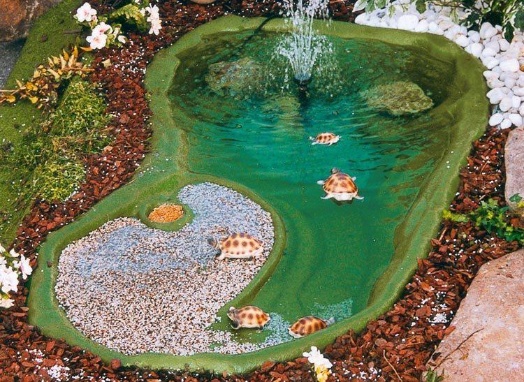 Laghetto x tartarughe ninja cm 185x105 for Laghetti ornamentali da giardino