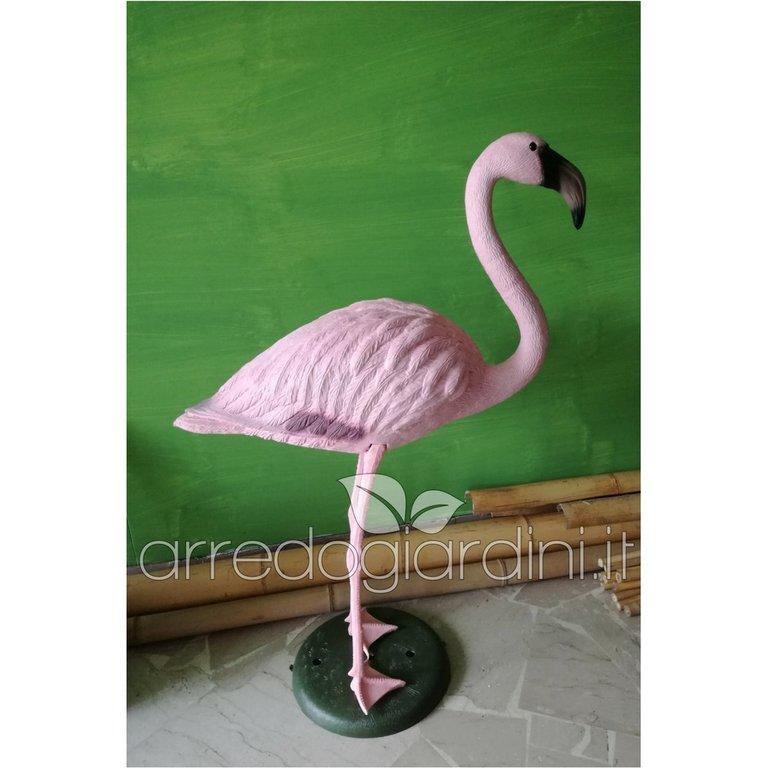 Animali Da Giardino In Plastica.Fenicottero Rosa H Cm 90 In Plastica Resina Arredogiardini It