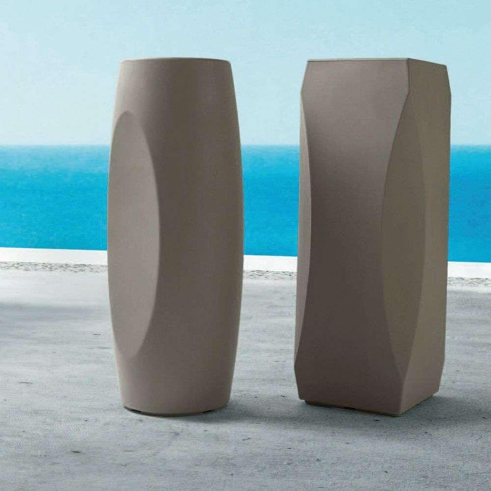 Vasi Interno Grandi Dimensioni vaso alto tondo lince cm Ø 32x100h plastica - arredogiardini.it